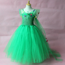 Designer kids wear beauty flower crochet tutu glitz girls party pageant gowns kids