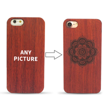 30 pcs Customize logo for Fashion High Quality PC Wood Case For iPhone 7 Plus iPhone 7 Case Natural Wooden Back Cover Bag(China)