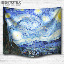 Wall Hanging Tapestries The Starry Night Tapestry Hippie Boho Bedspread Beach Towel Yoga Mat Blanket Table Cloth 4 Sizes