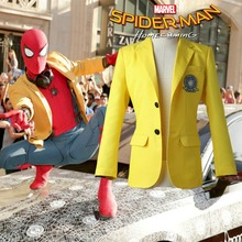 Spider-Man Homecoming Peter Parker Yellow Jacket Halloween Costume Spiderman Cosplay Costume Spider man Blazer Custom Made Coat
