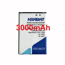 HSABAT 3000mah BL-44JN Mobile Phone Li-ion Battery for LG P970 E730 P690 P693 E510 C660 p698 c660 ms840 L5 E610 E730 E400(China)