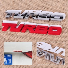 CITALL 3D Car Auto Truck Fender Body Silver / Red DIY Metal Emblem Sticker Turbo Letter Badge Logo Decal(China)
