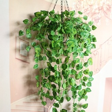 7 Branches 1x Green Imitation Fern Plastic Artificial Grass Leaves Plant for Home Wedding Decoration Arrangement