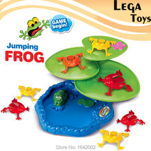 Family fun flipping frog game play set with 9 jumping frogs and 3pcs Leaf base Kids Party Favor Birthday Party Educatinoal Toys(China)