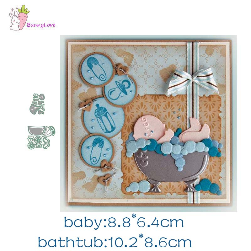 10 Baby  Blue  Babygro Die Cuts Embossed with dots