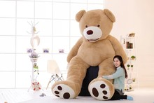 2016 EMS 260CM 103''inch giant stuffed teddy bear big large huge brown plush stuffed soft toy kid children doll girl christmas g(China)