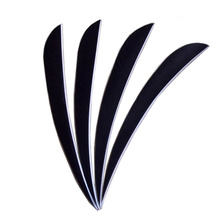30 pcs Archery black turkey feather 5 inch feather fit arrow hunting