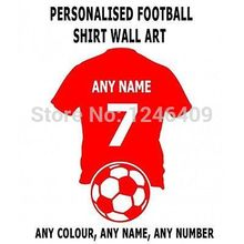 Cool Custom made personalize wall art football shirt with any name and number decal sticker-you choose name and color