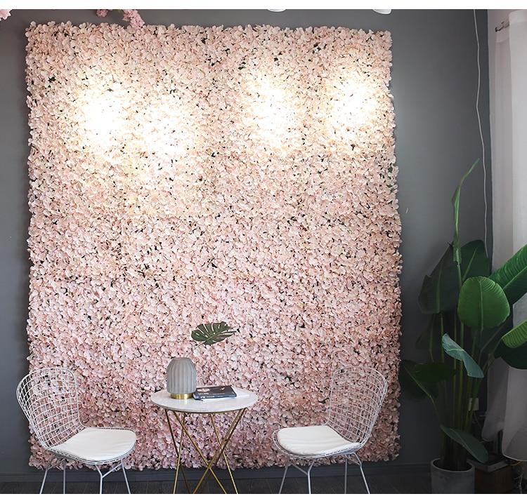 8pcs Artificial Flower Wall Panel Wedding Venue Floral Decor Champagne