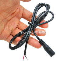 10pcs  22AWG 100cm(39.3inch) Female plug 12V DC Power Pigtail cable jack for CCTV Security Camera cable connector 5.5x2.1 mm