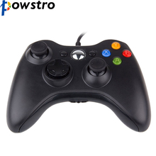 POWSTRO USB Wired Gamepad Controller for Microsoft Xbox 360 WII PS3 Slim PC Windows Joystick Gamepads for Game Lovers(China)