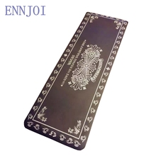 ENNJOI New Design 10MM NBR Thickness Slim Printing Yoga Mat Non-slip Black Thickening Exercise Pad Lose Weight Fitness Mat(China)