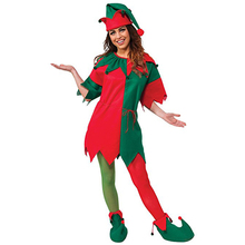Eraspooky Christmas Costume Miss Santa Costume Christmas Dress Women Christmas Elf Costume Hat Coat Shoes Set New Year Cosplay(China)