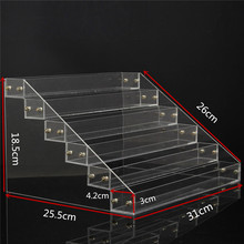 1 Pcs 6 Tiers Removable Nail Polish Shelf Acrylic Clear Cosmetic Varnish Display Stand Rack Holder Women Makeup Organizer Case(China)