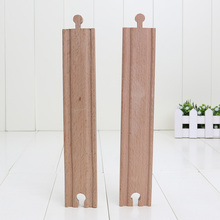10pcs/lot 23cm *4cm Long Straight Tracks Loose train slot wooden Railway train track(China)