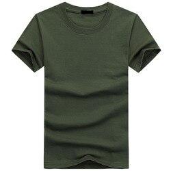 2019 Высокое качество модные мужские футболки Повседневная футболка с коротким рукавом мужская однотонная Повседневная хлопковая футболка ...
