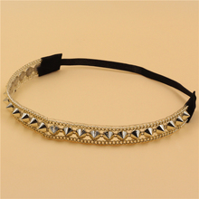 12pcs/lot women lady's sparkly fashion gold color rivet  Headband luxury retro Hairband Hair Band Accessories wholesale