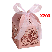 New 200pcs/pack Chair Place Card Holder and Favor Box Best for Candy Boxes and Wedding Favors Box Event Party Supplies(China)