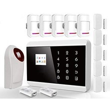 The cheapest TFT Color Display Dual Network Home Alarm Security System IOS with Android APP(China)