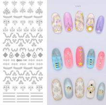 Make Up Products Design Water Transfer Nails Art Sticker Black Dots Symbol Nail Wraps Sticker Watermark Fingernails Decals(China)