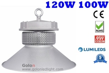 industrial led high bay light 100W  PhilipsLumileds SMD DHL Fedex free shipping 120W 100 watts LED highbay lighting