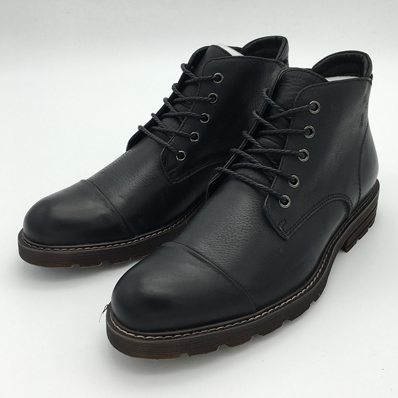 Vintage Mens Martin Boots Genuine Leather 2016 Autumn Winter Round Toe Lace Up Ankle Boots Hi Top Dress Shoes<br><br>Aliexpress