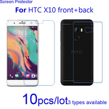 10pcs Ultra Clear/matte/Nano Explosion Proof Guard Protective Films Cover for HTC One X10 Front and Back Screen Protector Shield