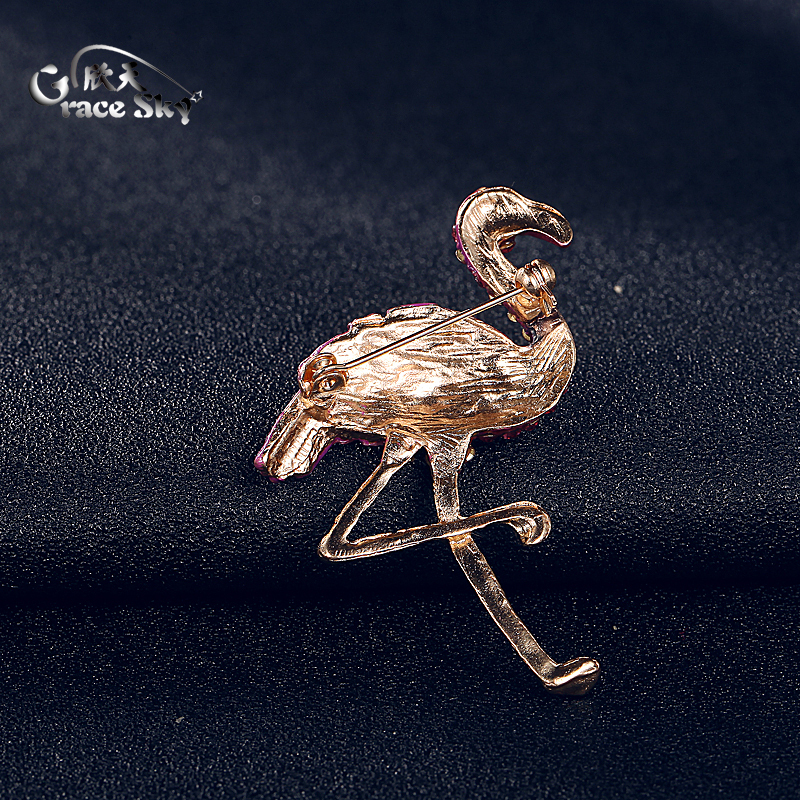 Elegants Flamingo Brooches Unisex Women /&Men Brooch Pin  Dress Coat Jewelry SNUK