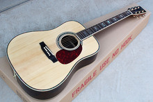 Factory Custom 41 inch 20 frets 45 Acoustic Guitar with solid top,golden tuners,colorful pearl binding,rosewood back