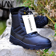 High Quality 2016 New Army Boots Male Zipper Design Tactical Boots Outdoor Delta SWAT Shoes For Men Black Military Boots