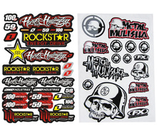 New 2pcs 3M GRAPHIC Rockstar &Metal mulisha Car Sticker Motorcycle Decals Stickers For Dirt Pit Bike ATV POCKET Bike CRF PW
