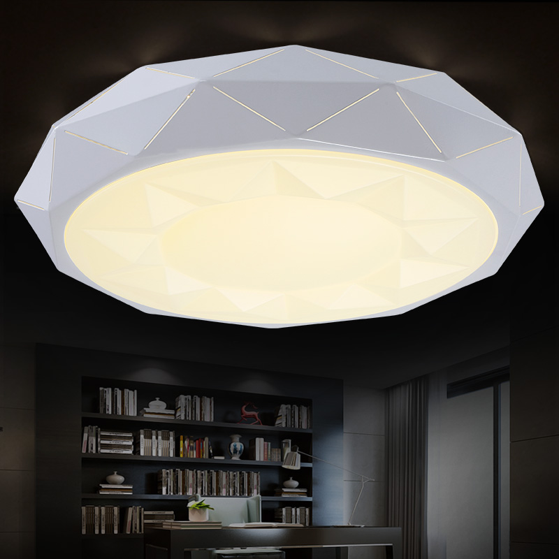 Dimming led bedroom lights ceiling light living room lights modern brief bedroom iron lamps circle<br><br>Aliexpress