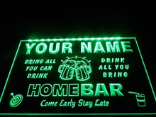 DZ057- Name Personalized Custom Family Home Brew Mug Cheers Bar Beer  LED Neon Light Sign