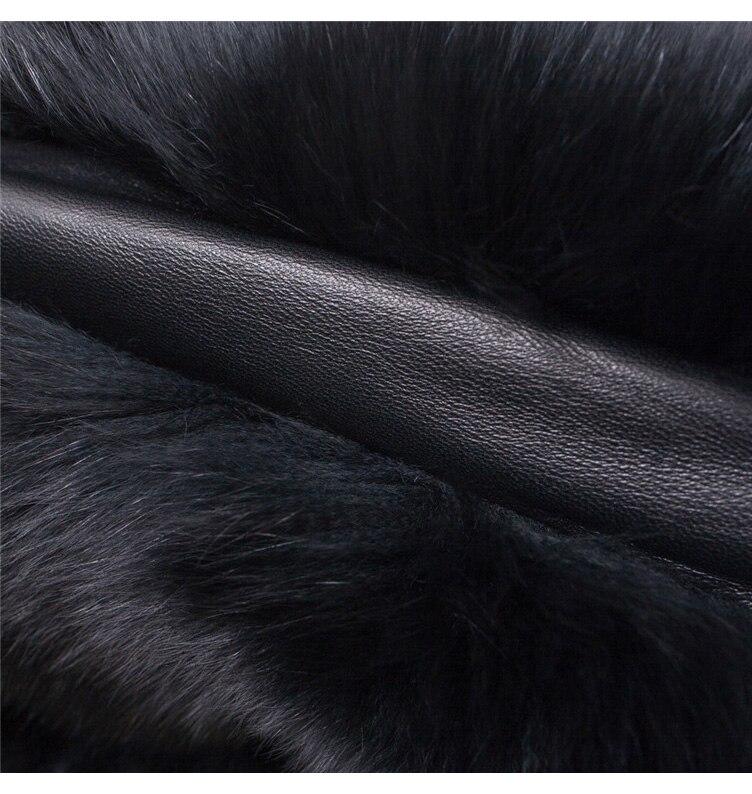 2018 Hcyo Korean version of the imitation of rabbit fur shawl imitation water mane fur grass cloak vest women's coat (12)