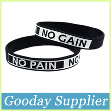 Customized Silicone Bracelet NO PAIN NO GAIN Silicone Wristband