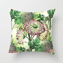 Retro Chic Stylish Art Nouveau Sunflower Pattern Throw Pillow Decorative Cushion Cover Pillow Case Customize Gift For Sofa Seat