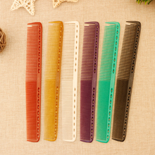 Mythus 6 Color Available Barber Hairdressing Cut Comb Pro 1 Piece Resin Unbreakable Haircut Comb Hair Acessories For Salon Shop(China)