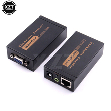 High Quality 100M 328ft VGA Video Audio Extender Over Single RJ45 CAT5e/6 1080P Extension adpater Lightning protection