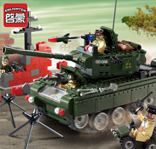 466pcs Building Blocks Military Series Tanks Soldier DIY Toys Children's Birthday Present Intelligence Creative Plaything