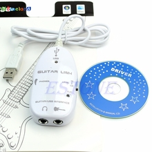 Electric Guitar to USB Interface Link Audio Cable Music Recording Adapter For PC Jul17_25