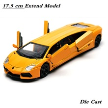 18Cm Extended  car model, Alloy car Die Cast toys boy's toys, Children's Gift, Light and sound,4 doors, Drop Shipping