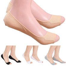1Pair Lovely Women Modal Elastic Invisible Liner No Show Peds Low Cut Peep Toes Open Toe Socks(China)