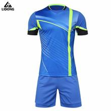 New Design Mens Football Jerseys High Quality Short Sleeve Soccer Training Breathable Football Jerseys Sportswear Uniforms(China)