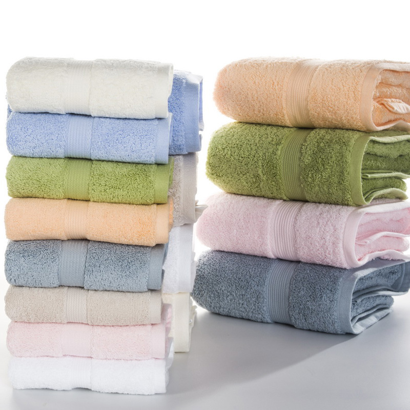 100% Egyptian cotton towel set 2pcs face towel 1pc bath towels for adults/beach towel white/blue/green/beige/pink MJ-1120YJ-5038(China)