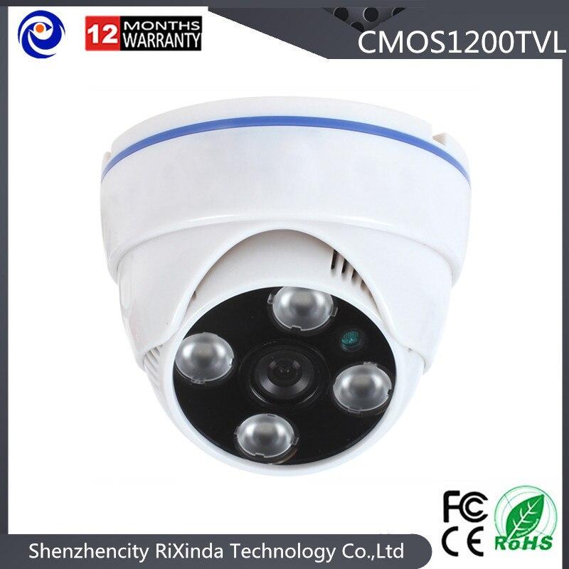 Free Shipping Small White Plastic Dome Security Camera HD1200TVL CMOS Analog Cctv Camera<br><br>Aliexpress