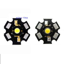 Special Price 10pcs 3W White 6500K Warm White 3000K High Power Led Emitter Bulb Lamp Light On 20MM Star PCB Board