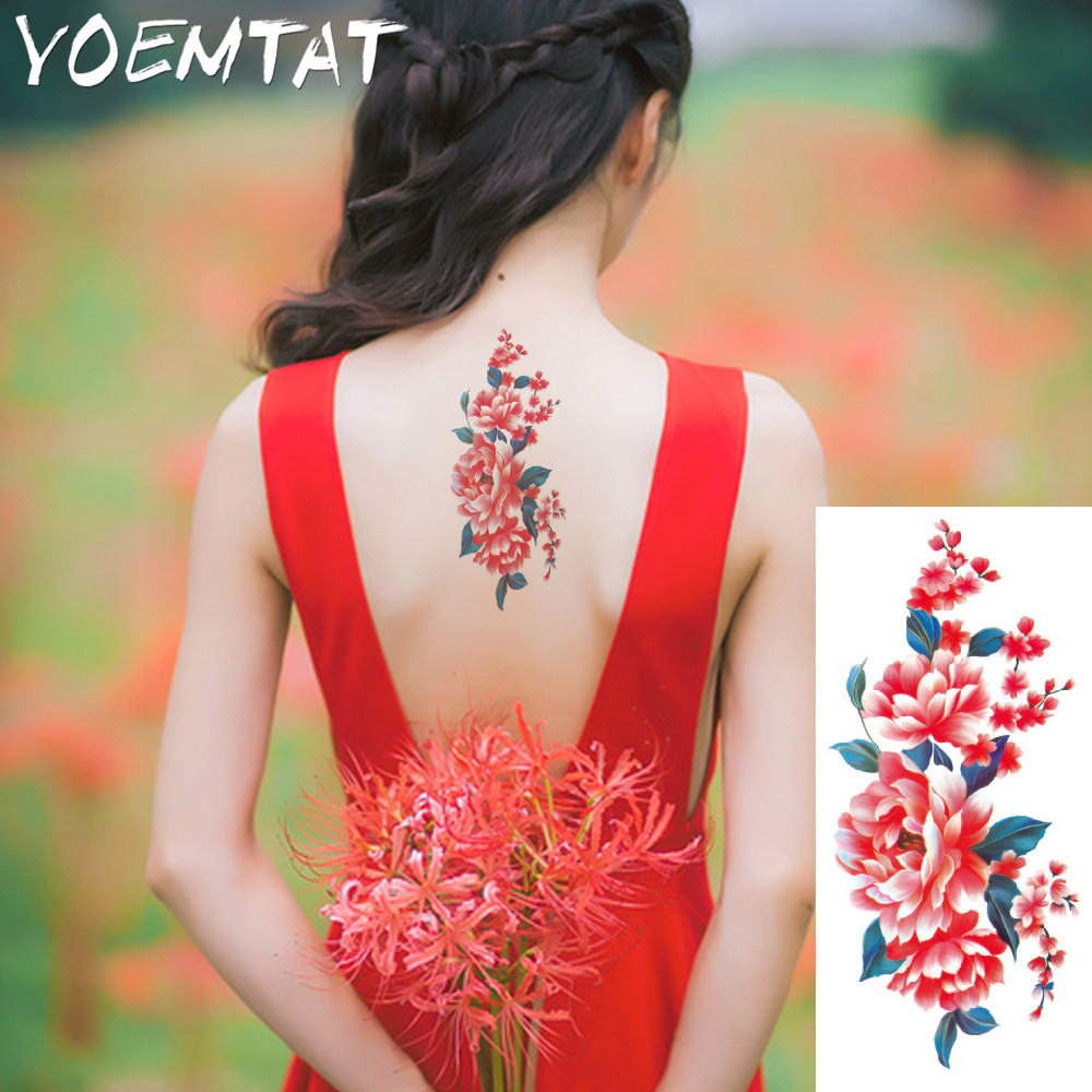 25 style flower arm shoulder tattoo stickers flash henna tattoo fake waterproof temporary tattoos sticker women 18