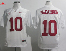 Nike Alabama Crimson Tide AJ McCarron 10 White 2012 SEC Patch College Ice Hockey Jersey(China)