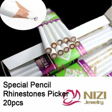 Rhinestone Picker Dotting Pencil For Picking Up Stones And Nail Things 20pcs Nail Art Decoration Tools Rhinestones Pickup Pens