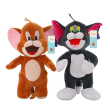 New Arrival 30cm Polpular Cartoon Plush Toys Cute Baby Dolls Cat Tom and Jerry Mouse Gifts for Children(China)